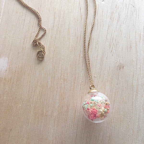 Potpourri Long Necklace - Cotton Candy