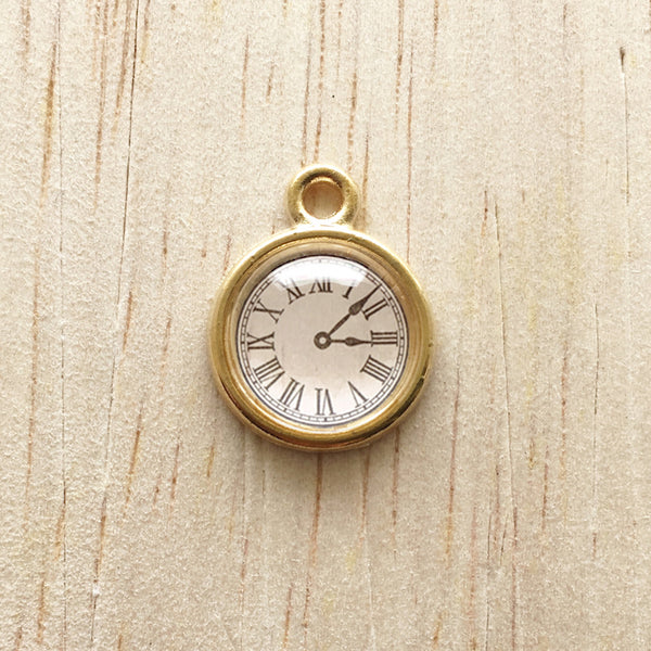 Clock Pendant Charm for Bracelet and Jewelry