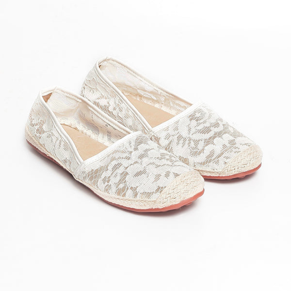 Mum & Me Joy Lace Leather Lined Espadrille Flats