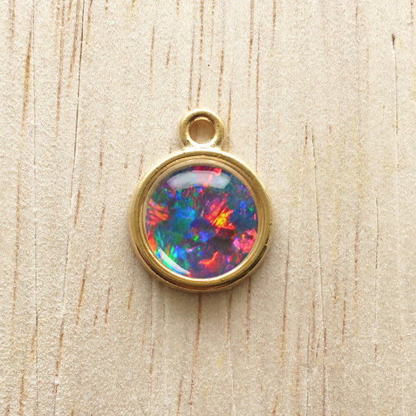 Opal Inspired Pendant Charm Bracelet Jewelry - Sunset