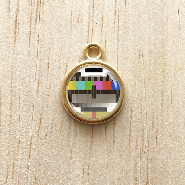 Retro Screen Pendant Charm