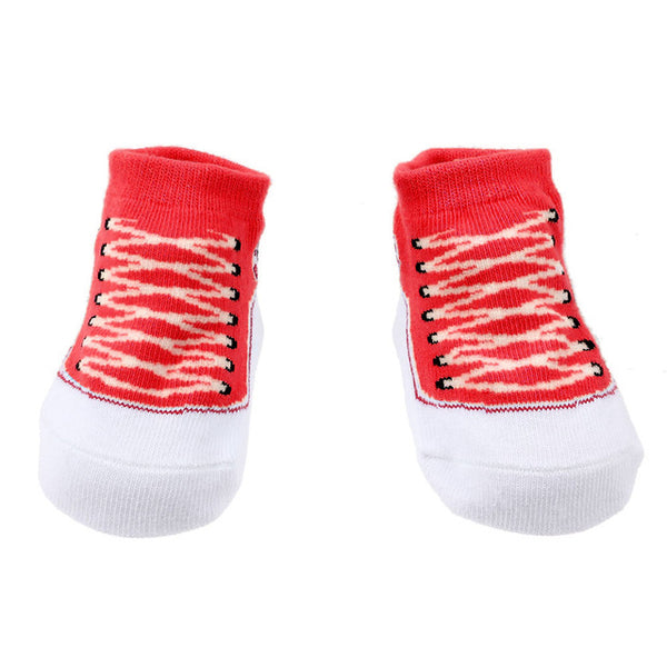 Baby Walker Socks - Sneaker Red