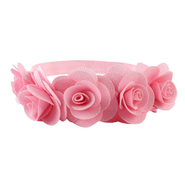 Soft Rose Headband for Baby Girls