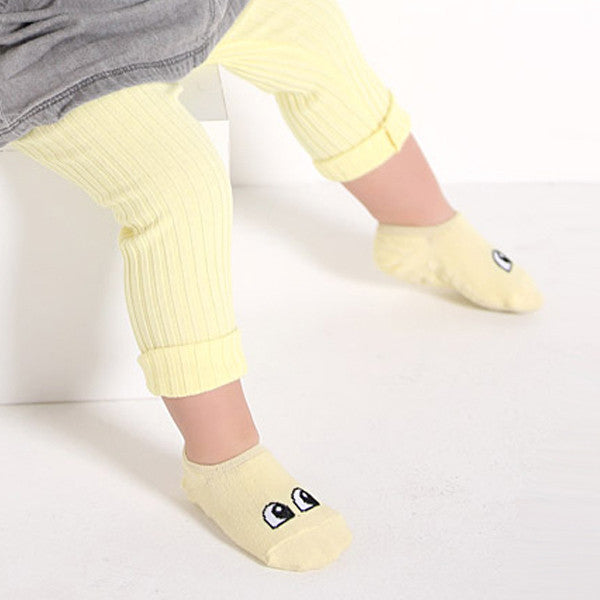 Baby Walker Socks - Happy Yellow