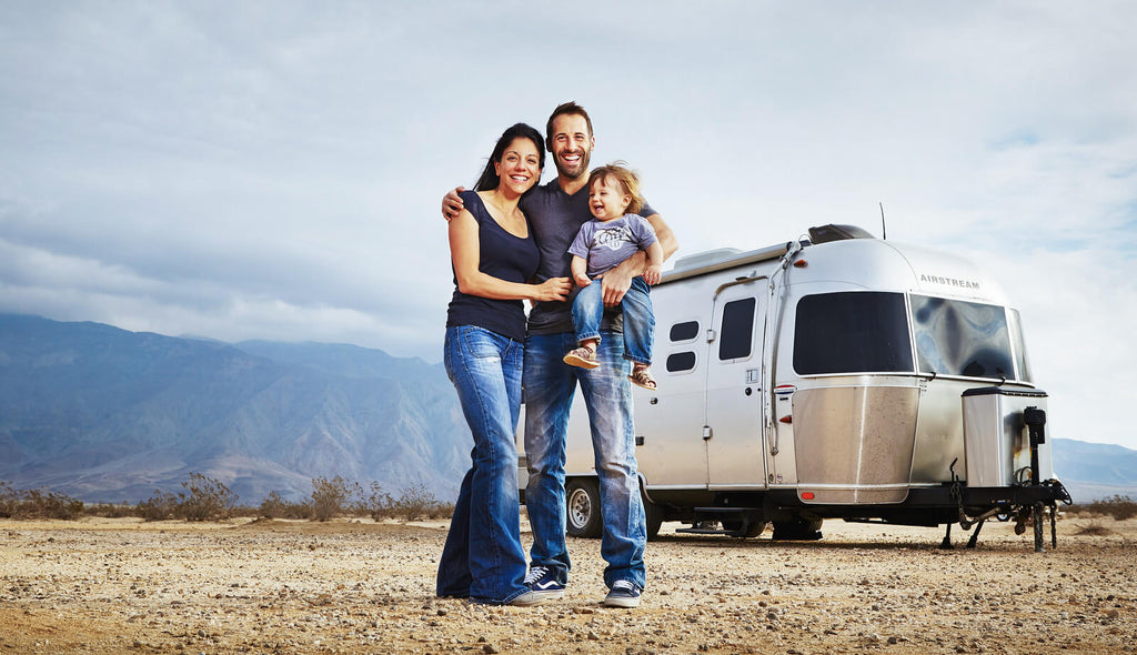 David Couillard Owner at HardCases with His Little Family in Anza Borrego Desert USA.