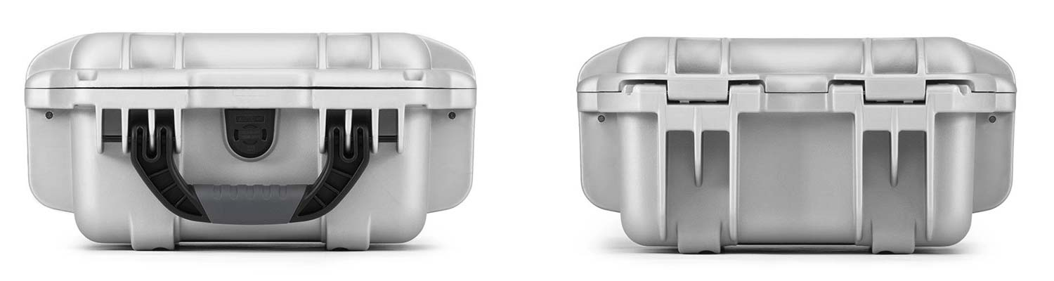 Nanuk 905 in Silver Front and Back Views