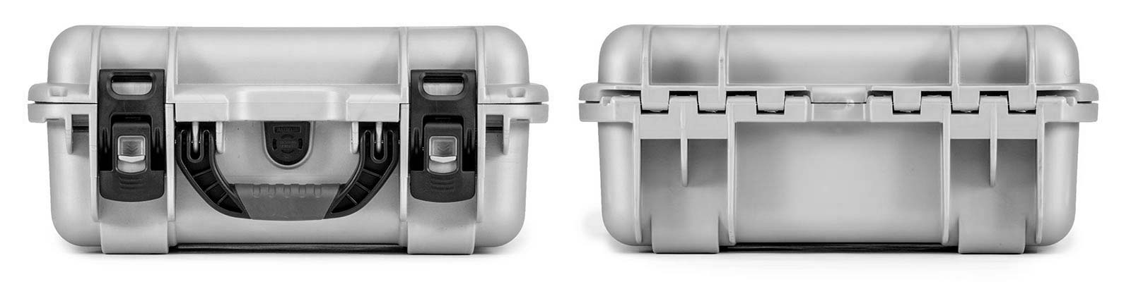 Nanuk 915 in Silver Front and Back Views