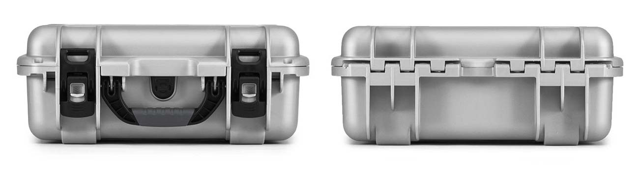 Nanuk 920 in Silver Front and Back Views