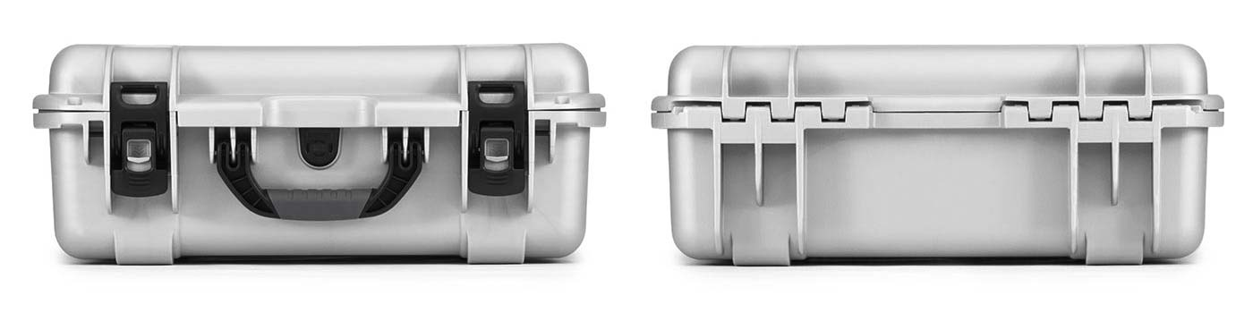 Nanuk 930 in Silver Front and Back Views