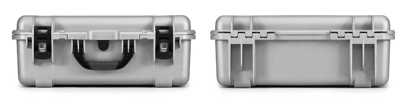 Nanuk 940 in Silver Front and Back Views