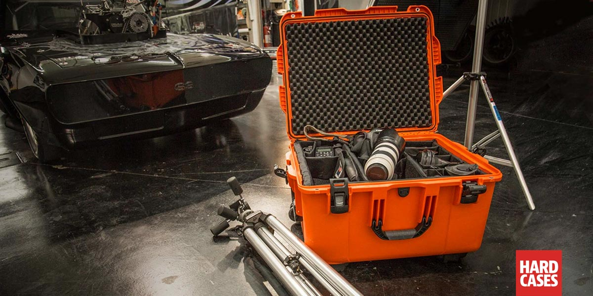 Nanuk 960 Orange on a Film Set