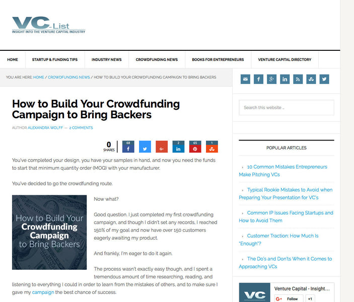 Crowdfunding Tips in VC-List.com
