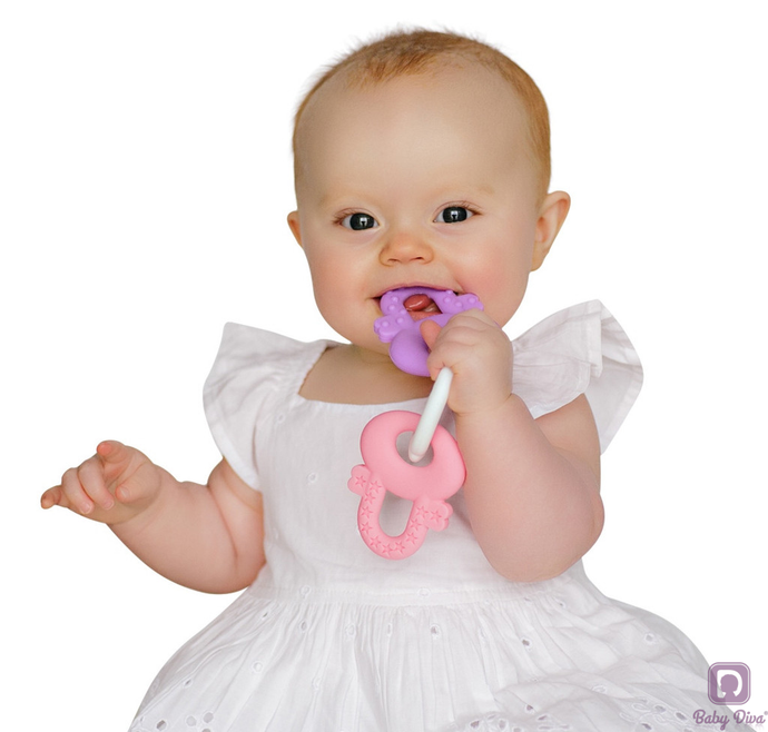 Teething Keys (Pink) - Baby Diva