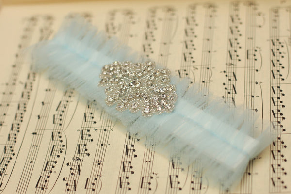 Blue Tulle and Rhinestone <br> GS203 <br> [Best Seller]