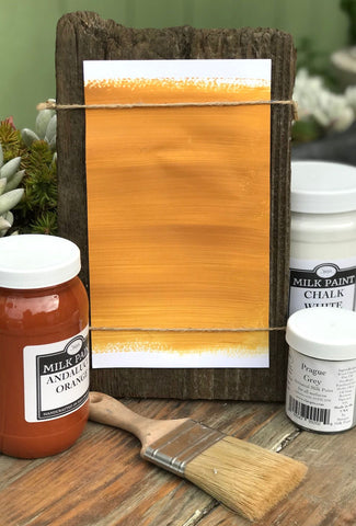 Milk Paint Corrida Yellow is available at Natural Art Supplies