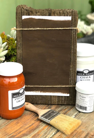 Milk Paint Cyprus Brown is available at Natural Art Supplies