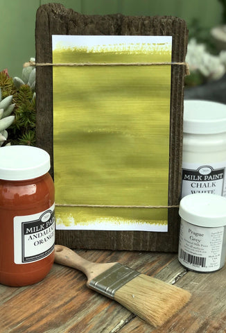 Milk Paint Kotinos Green is available at Natural Art Supplies