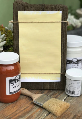 Milk Paint Lisbon Yellow is available at Natural Art Supplies