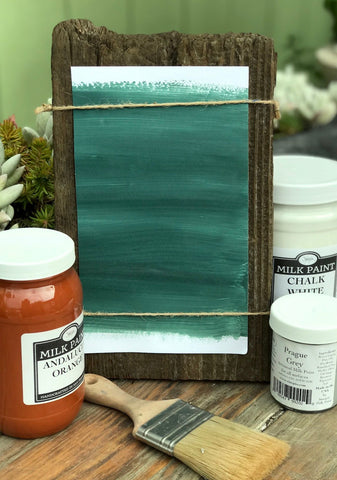 Milk Paint Santana Blue is available at Natural Art Supplies