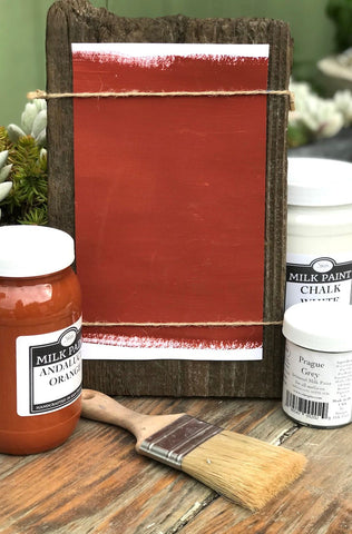 Milk Paint Terra Cotta is available at Natural Art Supplies