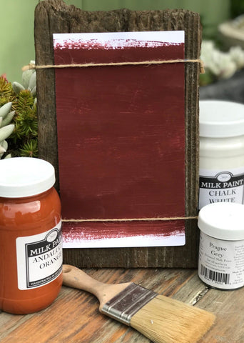 Milk Paint Turkish Red is available at Natural Art Supplies