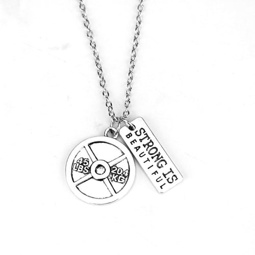 Strong Is Beautiful Weightlifting Necklace