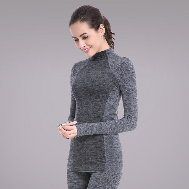 Grey High Neck Long Sleeved Top
