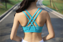 Blue Shockproof Sports Bra