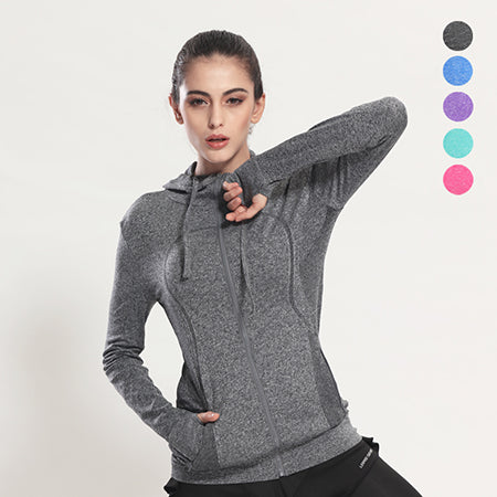 Grey Quick Dry Running Jacket