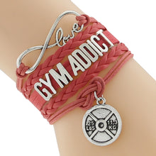 Red Gym Addict Handmade Fitness Bracelet