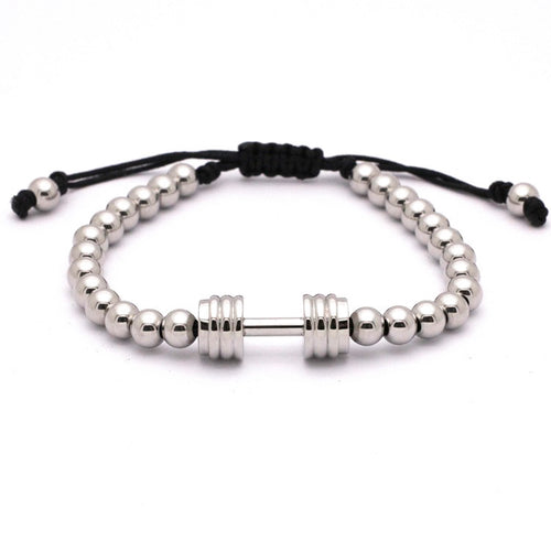 Titanium Steel Gym Dumbbell Bracelet