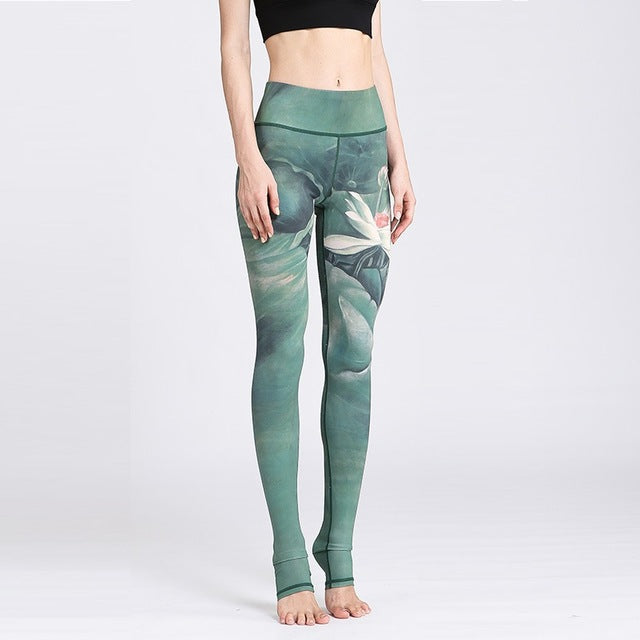 2018 'Tranquil' Lotus Print Leggings