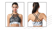 Women's Breathable Marble Mesh Sports Bra