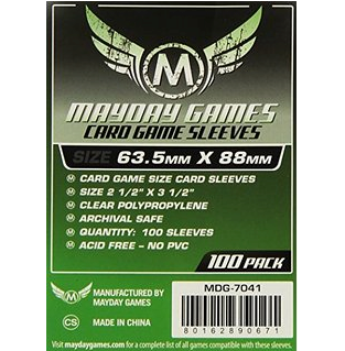 Sleeves - Clear Mayday Games 100pk (63.5x88)