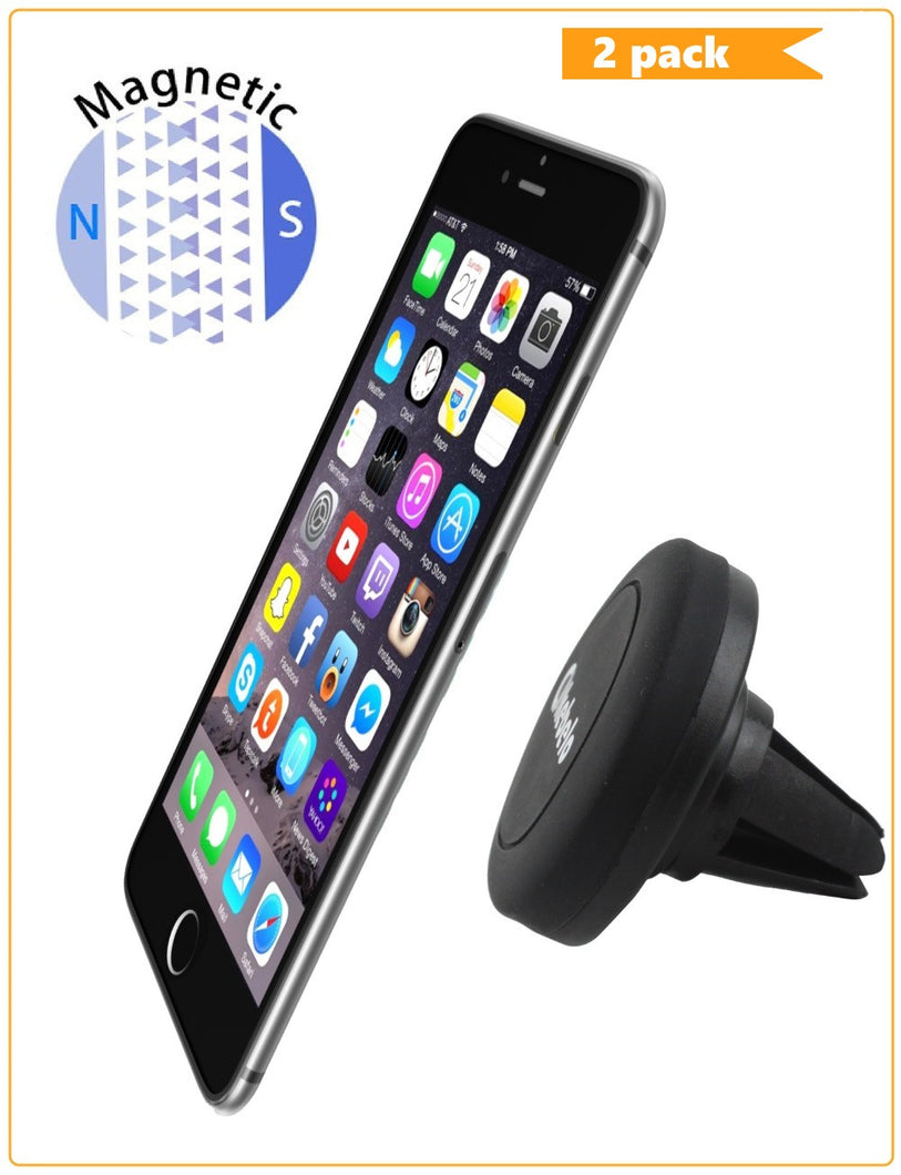 Kebelo® Easy-Vent Universal Air Vent Mount Magnetic Phone Holder (2 Packs) - kebelodirect