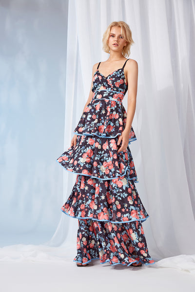 DARLENE MAXI TIERED DRESS