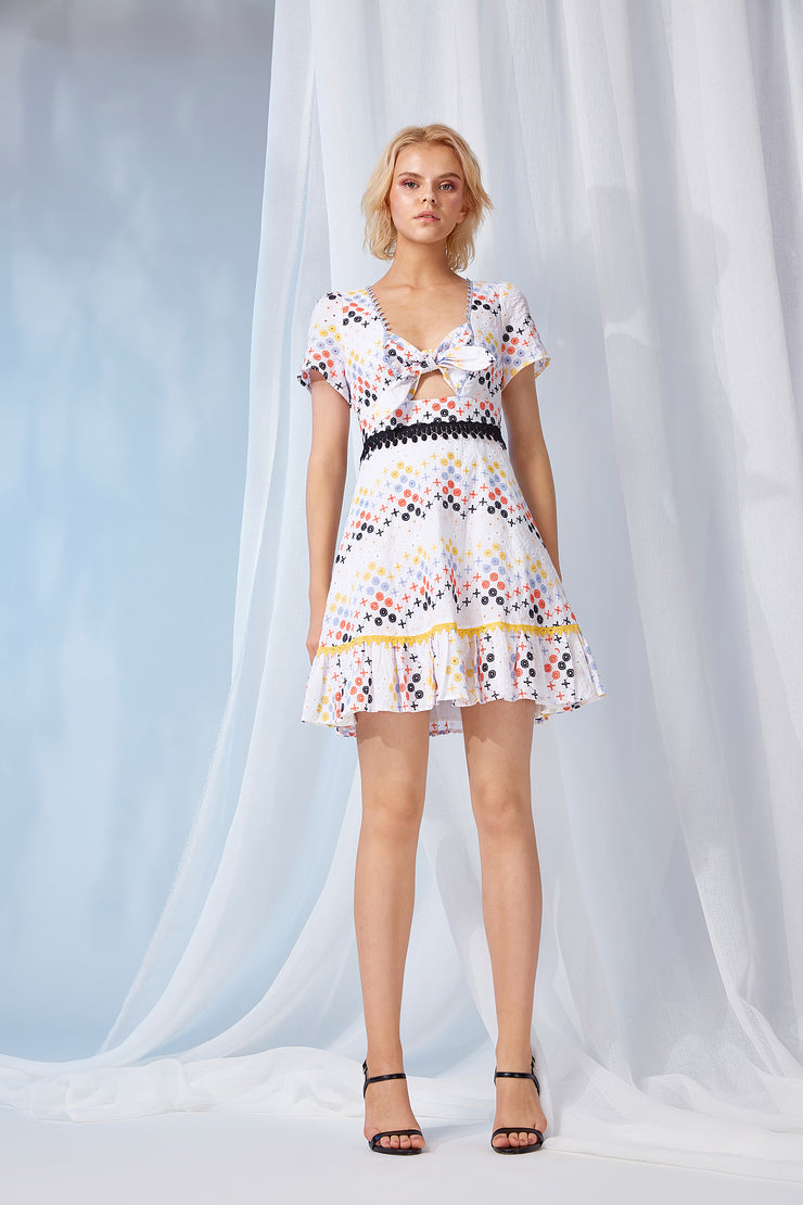 VALENTINA MINI BOW TIE DRESS
