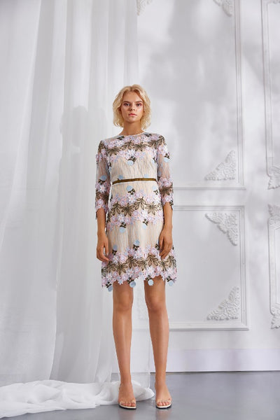 BELLE EMBROIDERED DRESS
