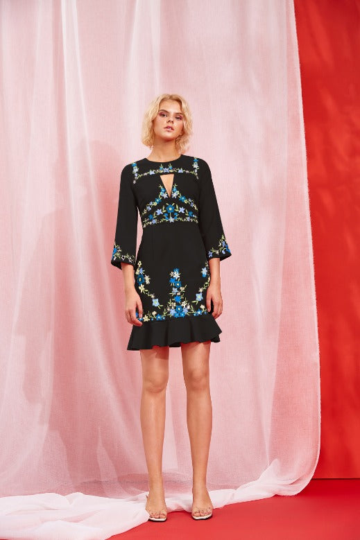 JACINTA EMBROIDERED DRESS