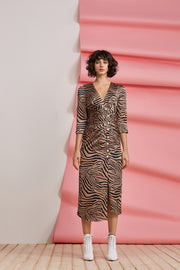 BILLIE ZEBRA PEARL DRESS