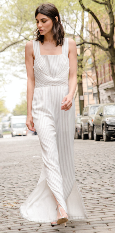 STRIPE LONG JUMPSUIT