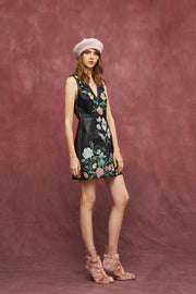 FLORA EMBROIDERY MINI DRESS