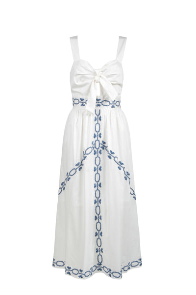 SPELLGIRL EMBROIDERY MIDI DRESS