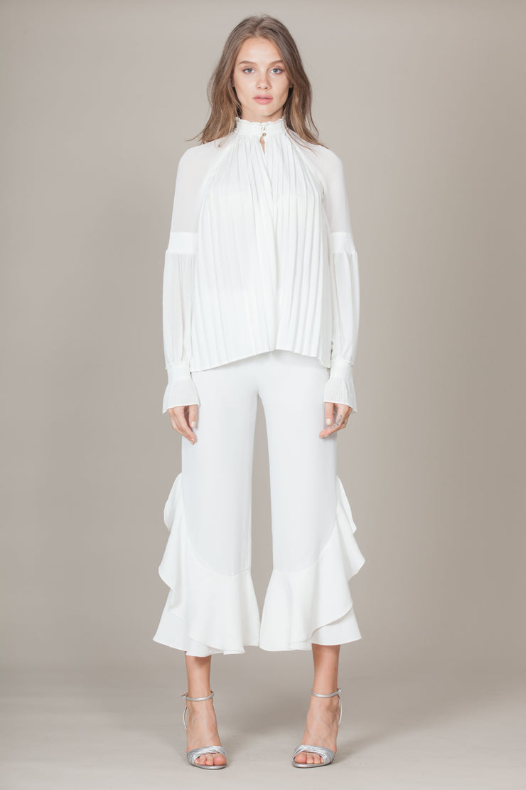LEAH PLEATED BLOUSE