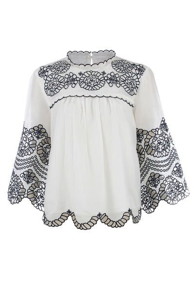LOUISA EYELET BLOUSE
