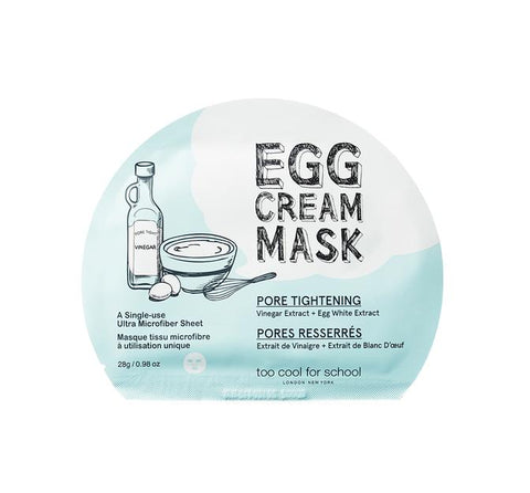 Too Cool for School Egg Cream Mask- Pore Tightening 28g