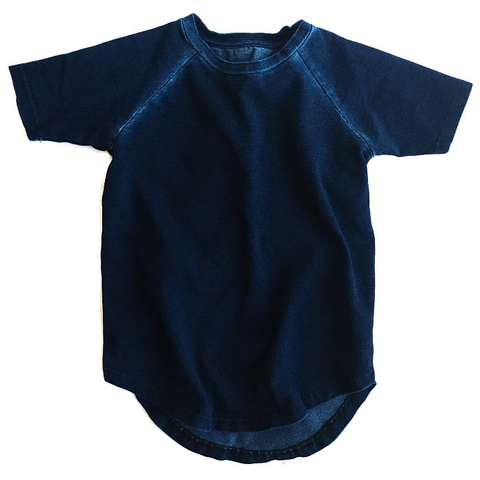 INDIGO BLUE WASH RAGLAN