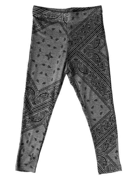 GREY BANDANA LEGGINGS