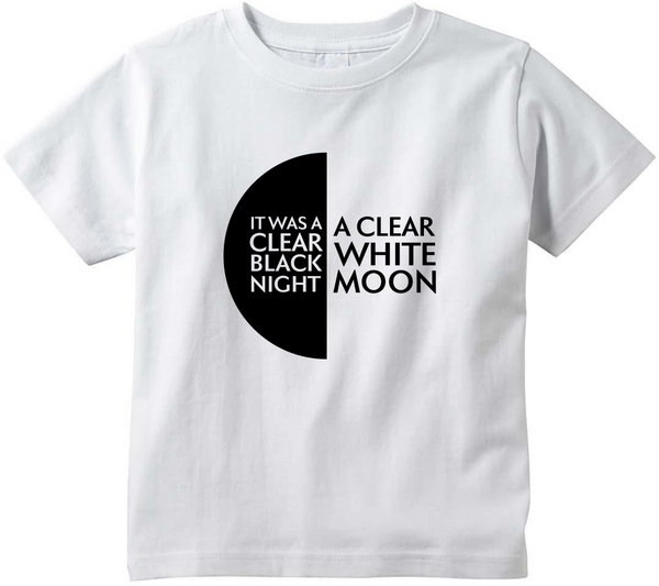 White Moon Toddler T-Shirt
