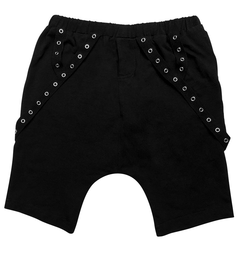 Onyx Chain Harem Shorts